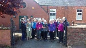 Centenary Walk 5: before the walk at Burgh by Sands Village Hall