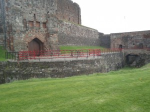 Decorated rails at Carlisle Castle