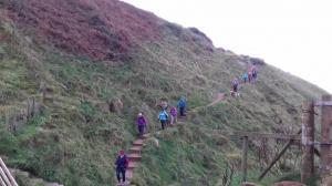 Centenary Walk 2 –descending to Fleswick Bay