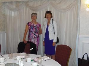 Dame Sue Ion, speaker, with Helen Mrowicki, Trustee, at Federation Lunch 2017