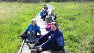Centenary Walk 3, Maryport – lunch break, Crosscanonby Nature Reserve