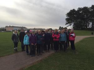 Participants in the Centenary Walk Part 4, form Silloth to Grune Point