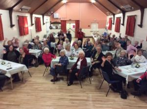 Members and guests at Scotby WI's 100th birthday party