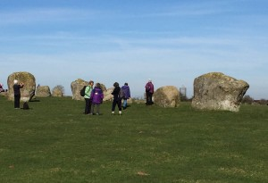 Long Meg's daughters stone circle, spring walk