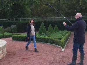 Dumfries House trip – Anita Rani filming for Countryfile