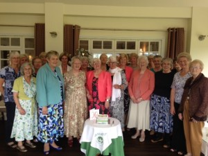 Rosley WI 90th birthday, with Linda Low, Jean Osbourne and Dorothy Shaw