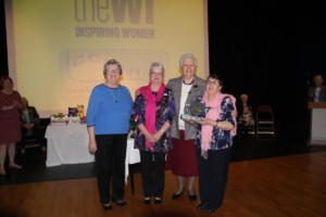 Team darts trophy for Lazonby WI