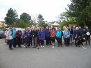 Ready for the off – Centenary Walk part 1